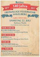 140 years volunteer fire brigade Havelberg