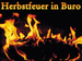 Herbstfeuer in Buro
