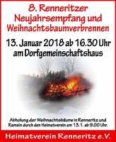 Weihnachtsbaumverbrennen Renneritz 2018