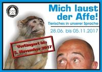 """Veranstaltungsplakat der Sonderausstellung """"Mich laust der Affe"""""""
