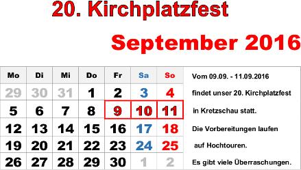 20. Kirchplatzfest