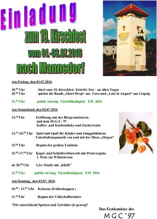 Gem Kretzschau - Einladung zum 19 Kirschfest