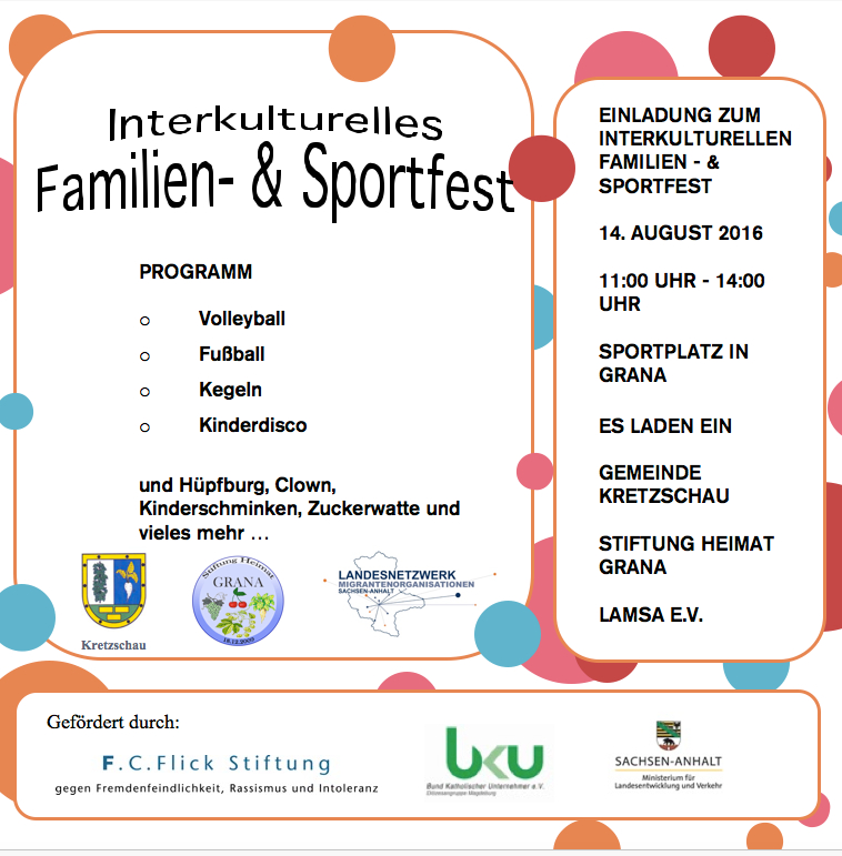 Gem Kretzschau - Familien- und Sportfest Kretzschau Plakat