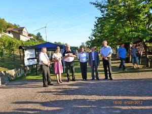 Empfang der neuen Gebietsweinkönigin Saale-Unstrut im Herzoglichen Weinberg Freyburg (Unstrut)