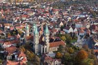 Naumburg. Blick auf  Domfreiheit und Bürgerstadt