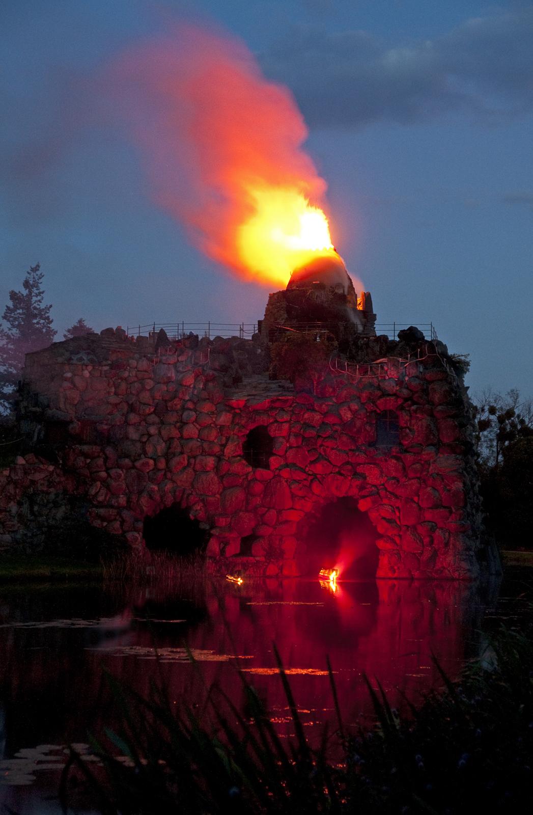 Eruption auf der Insel Stein